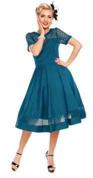 Dolly and Dotty Kleid Tessa pfauenblau
