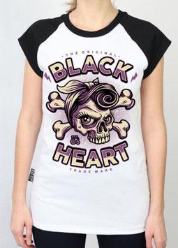 Black Heart Shirt Betty Rizo Raglan