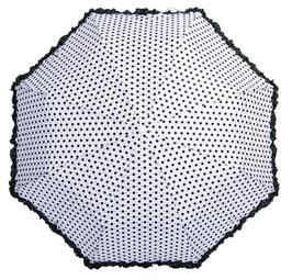 Soake Taschenschirm weiss Dots