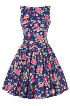 Lady Vintage Kleid Tea navy floral