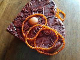 Bracelet en perles de Cornaline 4 mm