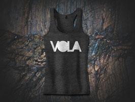 VOLA Racerback Tank Charcoal Black