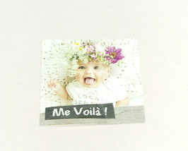 """Carte message """"Me voilà !"""""""