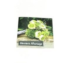 """Carte message """"Heureux mariage"""""""