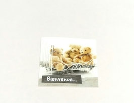 "Carte message ""Bienvenue"""