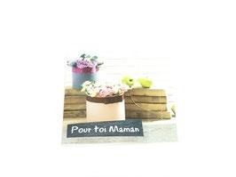 """Carte message """"Pour toi Maman"""""""