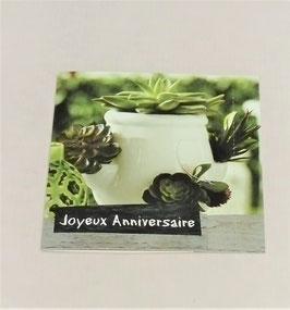 """Carte message n°2 """"Joyeux anniversaire"""""""