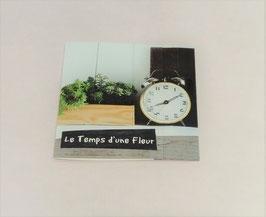 """Carte message """"Le temps d'une fleur"""""""