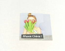 "Carte message ""Mamie chérie"""
