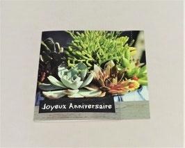 """Carte message n°3 """"Joyeux anniversaire"""""""