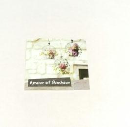 """Carte message """"Amour et bonheur"""""""