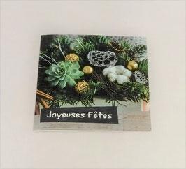 """Carte message """"Joyeuses fêtes"""""""
