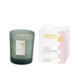 Bougie parfumée Rose Rhubarbe, une séduction toute en couleur