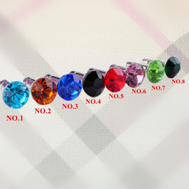 Colorful gem plug