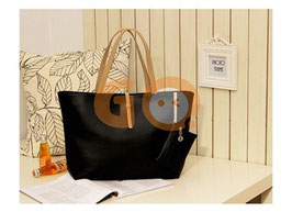Vintage simple PU leather bag