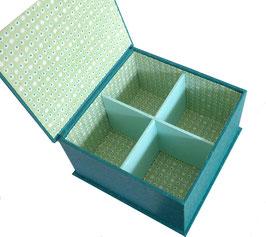 Boîte à thé 4 cases