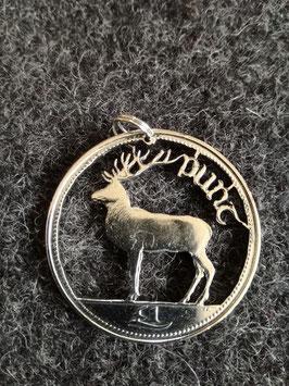 Rothirsch irische 1 Pfund Münze