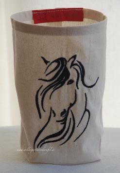 """Lichthülle / Vasenhusse """"Pferd"""""""