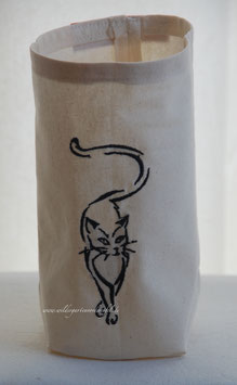 """Lichthülle / Vasenhusse """" Schleichende Katze"""""""