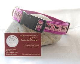 """Halsband """"Pferde auf rosa"""""""