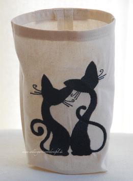 """Lichthülle / Vasenhusse """"Verliebte Katzen"""""""