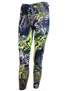 Gray & Green Leggings