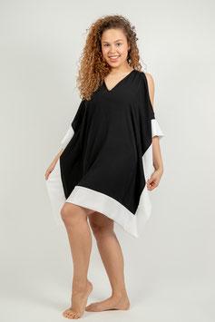 Butterfly Black & White Dress