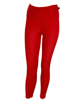 Fish Scale Leggings Red