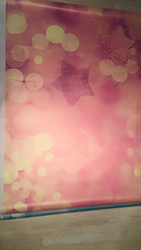 Bokeh Sterne Winter rosa/pink, 130x170, Lager