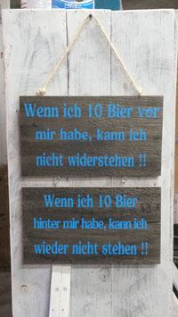 """Spruchschilder """"Bier"""""""