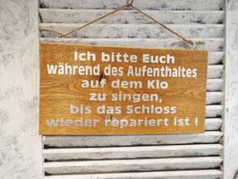 """Schild """"Singen auf dem Klo"""""""