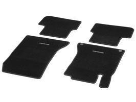 Fußmatten - Velours schwarz - Einfassung schwarz  A-Klasse W 176
