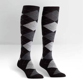 Argyle Black & White