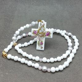 Rosenkranz - Kreuz mit Röschen