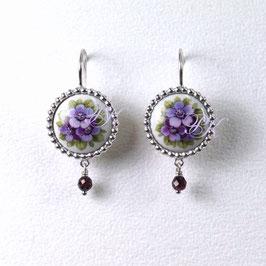 Ohrhänger Set - Violette Blüten