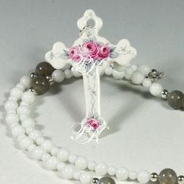 Rosenkranz - Kreuz mit Rosen