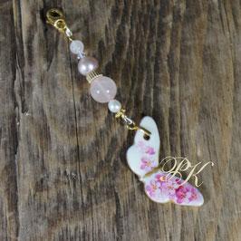 Chariwari - Anhänger Schmetterling Vergissmeinnicht rosa