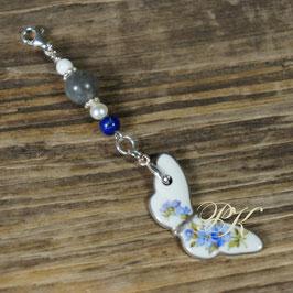 Chariwari-Anhänger Schmetterling Vergissmeinnicht blau