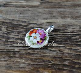 Schmuckanhänger - Bouquet mit weisser Blüte
