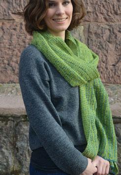 Langer Schal aus Alpakawolle