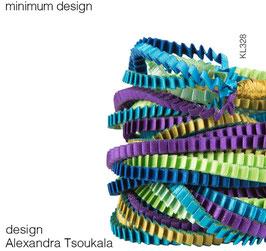 Collier aus plissiertem Stoff