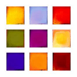 Farbfeldmalerei, 9 er Satz