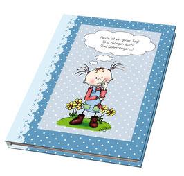 """Blaues Notizbuch """"Heute ist ein guter Tag!"""""""