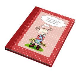 """Rotes Notizbuch """"Heute ist ein guter Tag!"""""""