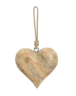 Herz aus Holz zum Aufhängen