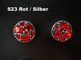 1 Stück Snap Button mit Strass-Steinen, 12 mm, Modell S23