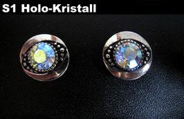 1 Stück Snap Button mit Strass-Stein, 12 mm, Modell S1