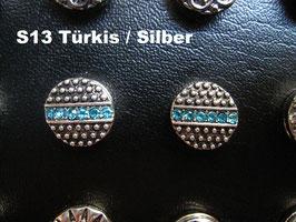 1 Stück Snap Button mit Strass-Steinen, 12 mm, Modell S13