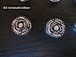 1 Stück Snap Button mit Strass-Steinen, 12 mm, Modell S3