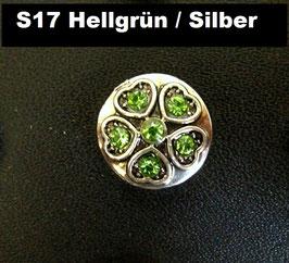 1 Stück Snap Button mit Strass-Steinen, 12 mm, Modell S17